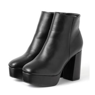 グレイル(GRL)の厚底チャンキーヒールショートブーツ(ブーツ)