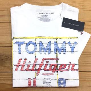 トミー(TOMMY)の新品【キッズL】★トミー★ロゴプリント半袖Tシャツ/白(Tシャツ/カットソー(半袖/袖なし))