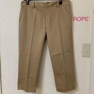 ロペ(ROPE)の(株)ジュン ROPE' ロペ 日本製ボトムス パンツ 大きいサイズ クロップド(クロップドパンツ)