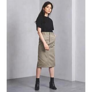 ハイク(HYKE)の新品未使用 HYKE ワークタイトスカート  サイズ1 カーキ ハイク(ひざ丈スカート)