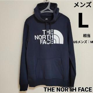 THE NORTH FACE - 【セール】ノースフェイス ネイビー パーカー ビッグロゴ ML