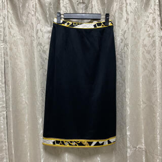 レオナール(LEONARD)の【美品】LEONARD コットン スカート 66(ひざ丈スカート)