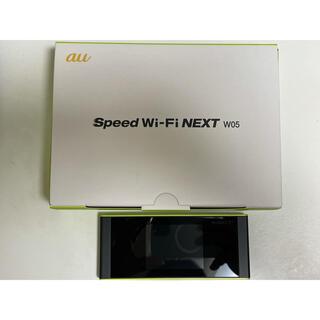 WiMAX 2+ Speed Wi-Fi NEXT W05 ブラック×ライム(PC周辺機器)