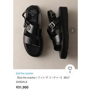 フットザコーチャー(foot the coacher)のfoot the coacher  BELT SANDALS(サンダル)