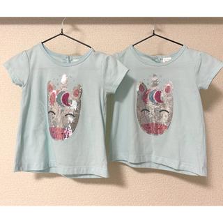 カーターズ(carter's)の双子 カーターズ Tシャツ 18M スパンコール ユニコーン2枚セット(Tシャツ)