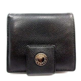 ブルガリ(BVLGARI)のブルガリ BVLGARI 二つ折り財布 レザー 黒 ブラック /AN16 ■OH(折り財布)