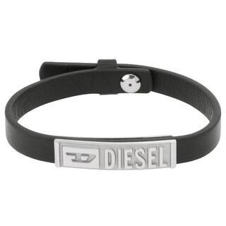 ディーゼル(DIESEL)のディーゼル DX1226040 ロゴID プレート レザー ブレスレット(ブレスレット)