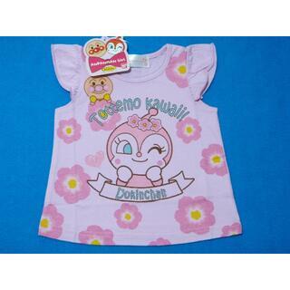 アンパンマン(アンパンマン)の新品 80cm アンパンマン 夢の花フレンチスリーブTシャツ ピンク(Tシャツ)