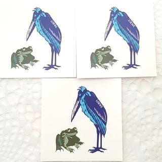 ロエベ(LOEWE)のLOEWE シール 3枚 カエルと水色の鳥(ノベルティグッズ)