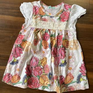 ハッカキッズ(hakka kids)のハッカキッズ    花柄Tシャツ 120(Tシャツ/カットソー)