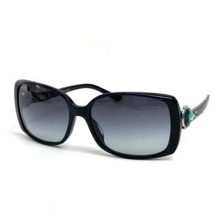 ブルガリ(BVLGARI)の美品 ブルガリ サングラス プラスチック ビジュー付き ブラック ユニセックス(サングラス/メガネ)