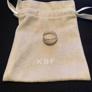 ケービーエフ(KBF)のKBF SILVER925レイヤーリング(リング(指輪))