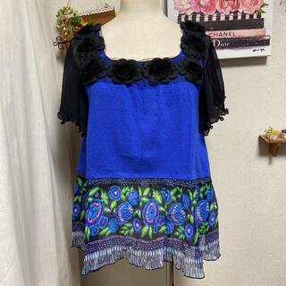 アナスイ(ANNA SUI)の美品 ANNA SUI   シルクコットン プルオーバー(Tシャツ/カットソー(半袖/袖なし))