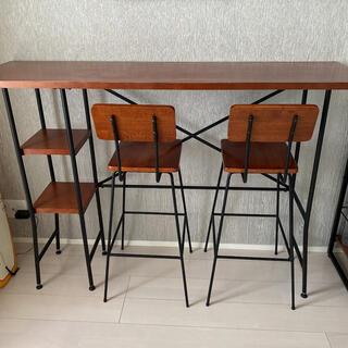 フランフランのハイカウンターテーブル(バーテーブル/カウンターテーブル)