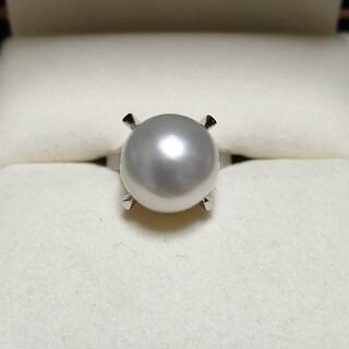 タサキ(TASAKI)の田崎真珠 白蝶真珠 パール リング Pt900 12.0mm 8.6g(リング(指輪))