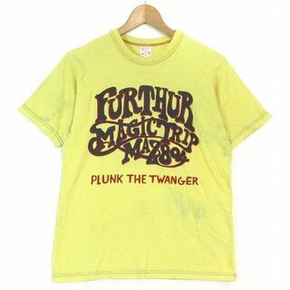 フリーホイーラーズ(FREEWHEELERS)のフリーホイーラーズ POWER WEAR Tシャツ 半袖 プリント 黄色 S(Tシャツ/カットソー(半袖/袖なし))