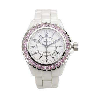 シャネル(CHANEL)のCHANEL オートマチック腕時計 H1182 J12 ホワイト系 自動巻き(腕時計(アナログ))