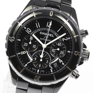 シャネル(CHANEL)のシャネル J12 クロノグラフ H0940 自動巻き メンズ 【中古】(腕時計(アナログ))