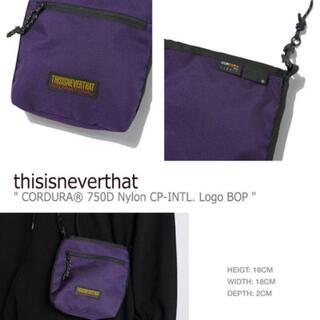 ステューシー(STUSSY)のthisisneverthat logo waist bag(ショルダーバッグ)