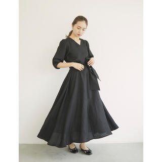 RANDEBOO 2way linen OP (Black)(ロングワンピース/マキシワンピース)