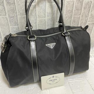 プラダ(PRADA)の正規品 極美品 PRADA プラダ ブラック ハンドバッグ ボストンバック(ボストンバッグ)