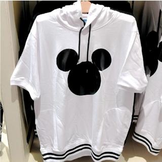 ディズニー(Disney)のミッキー  半袖  パーカー  ディズニーランド(パーカー)
