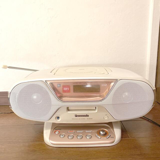 パナソニック(Panasonic)の【送料無料】PanasonicのCD・MDプレーヤー・ラジオ(ポータブルプレーヤー)