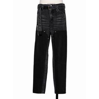 sacai - 21ss サイズ1 sacaii デニム パンツ ブラック