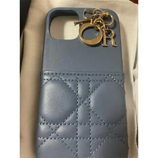 クリスチャンディオール(Christian Dior)のDior iPhoneケース 12 mini ブルー 正規品 美品(iPhoneケース)