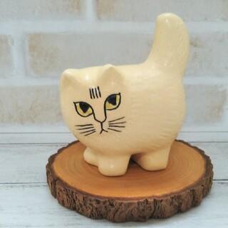 Lisa Larson - 美品 ◆ リサラーソン モア ミニ  ホワイト Moa 猫 北欧