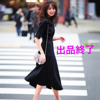 Mila Owen - SALE★ミラオーウェンリブニットセットアップ黒M