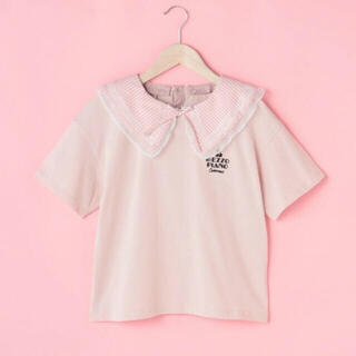 mezzo piano junior - メゾピアノ新品新作タグ付きギンガムビッグカラー半袖Tシャツ140-160