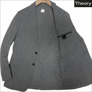 セオリー(theory)のJ4033 美品 セオリーメン シアサッカー サマージャケット グレー 36(テーラードジャケット)