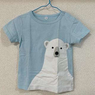 ムジルシリョウヒン(MUJI (無印良品))のインド綿天竺編みプリントTシャツ(ベビー) ベビー80・ホッキョクグマ(Tシャツ)