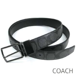 コーチ(COACH)の【COACH★F64825】コーチ メンズベルト本革レザー黒リバーシブル 新品(ベルト)