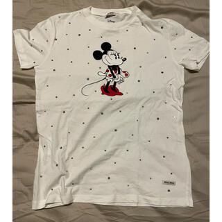 ミュウミュウ(miumiu)の【未着用】miumiu スワロフスキー ミニーTシャツ(Tシャツ(半袖/袖なし))