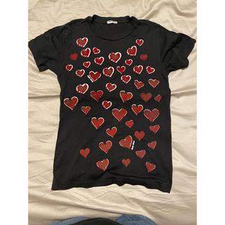 ミュウミュウ(miumiu)のmiumiu ハートTシャツ XSサイズ(Tシャツ(半袖/袖なし))