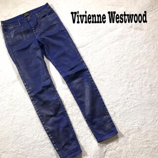 ヴィヴィアンウエストウッド(Vivienne Westwood)のvivienne westwood デニム ストレッチ パープル スキニー 28(デニム/ジーンズ)