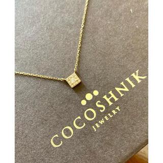 ココシュニック(COCOSHNIK)の美品 ココシュニック ダイヤモンドネックレス K10(ネックレス)