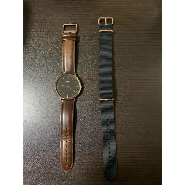 Daniel Wellington(ダニエルウェリントン)のダニエルウェリントン 腕時計 替えベルトセット メンズの時計(レザーベルト)の商品写真