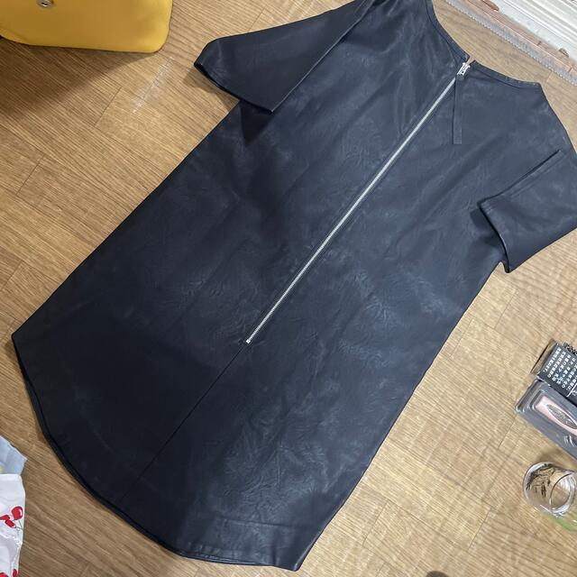 EGOIST(エゴイスト)のEGOIST ワンピース free black 黒 シャツワンピ  レディースのワンピース(ミニワンピース)の商品写真