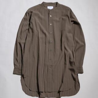 MBロングストライプシャツ カーキ(シャツ)