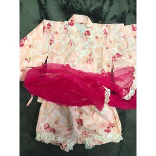 ディズニー(Disney)の浴衣ドレス ディズニー 甚平 女の子(甚平/浴衣)