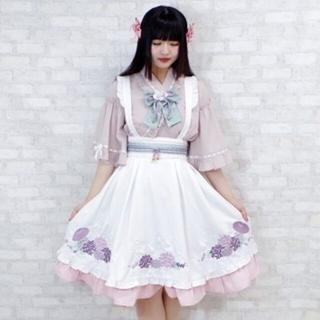 アマベル(Amavel)の2点セット Amavel 紫陽花の五月雨エプロン風スカート 和装 和ロリ (セット/コーデ)