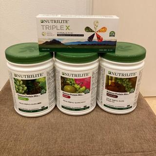 アムウェイ(Amway)のアムウェイ トリプルエックス&プロテイン3種(チョコ、抹茶、ベリー)(プロテイン)