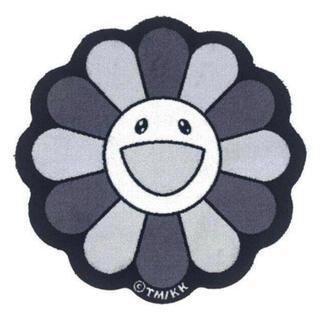 新品 村上隆 Flower Floor Mat Black White(ラグ)