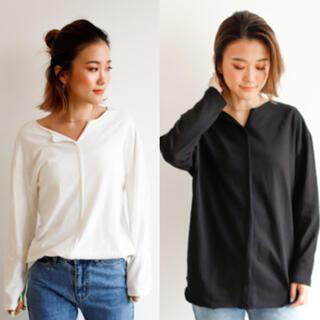 アンティローザ(Auntie Rosa)のAuntie Rosa Holiday ロンT ホワイト×ブラック セット(Tシャツ(長袖/七分))