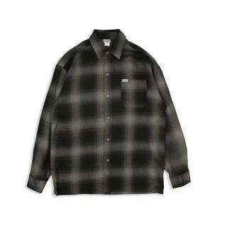 カルトップ(CALTOP)のcaltop  ロングスリーブシャツ ブラック×チャコール(シャツ)