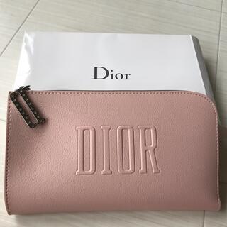 ディオール(Dior)のディオール Dior ポーチ ピンク ノベルティ 非売品 ロゴ チャーム 新品(ポーチ)