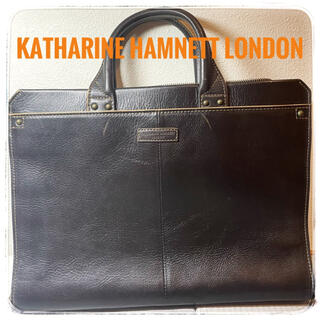 KATHARINE HAMNETT - 本革 ビジネスバッグ KATHARINE HAMNETT ブラック 黒